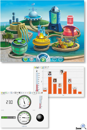 GlobiWorld Software for Primary Schools Diagram